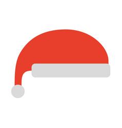 christmas hat clothes of santa decoration vector image