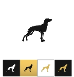 Dog silhouette black icon vector image vector image
