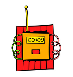 dynamite icon icon cartoon vector image