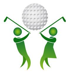 golf logo design vector image