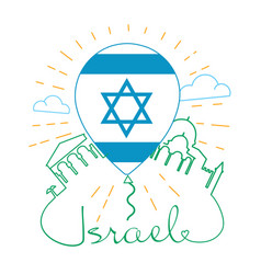 Icon for traveling israel vector