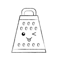 Kitchen grater kawaii character vector