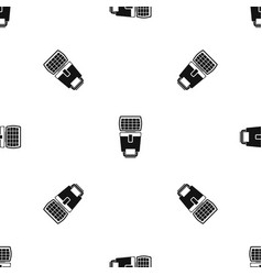 lighting flash for camera pattern seamless black vector image vector image