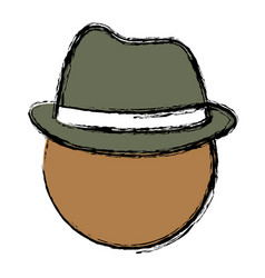 Man with hat icon vector
