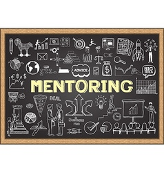 Mentoring on chalkboard vector