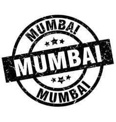 Mumbai black round grunge stamp vector
