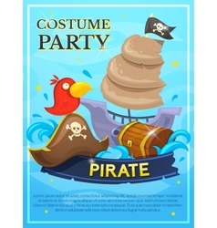 Pirate poster vector image vector image