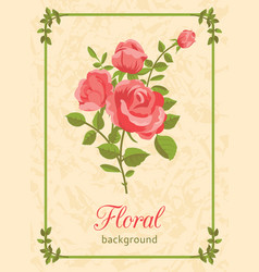 rose floral background vector image vector image