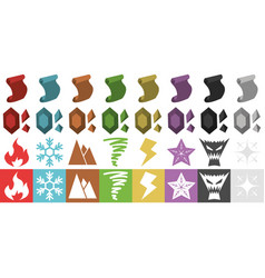 rpg elements icons vector image