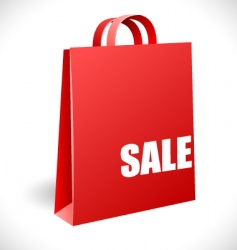 sale bag vector image vector image