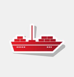 Ship sign new year reddish vector