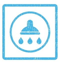 Shower icon rubber stamp vector
