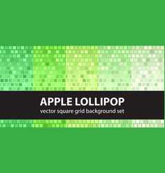Square pattern set apple lollipop tile vector