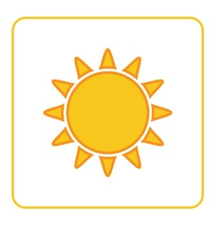 Sun icon white background isolated vector