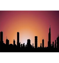 sunrise city vector image vector image