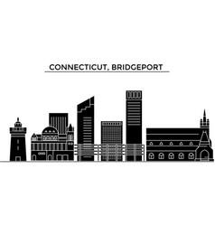 usa connecticut bridgeport architecture vector image