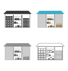 Warehouse icon of for web and vector