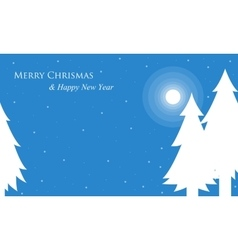 Silhouette of spruce winter christmas vector