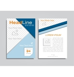 Brochure design layout vector image
