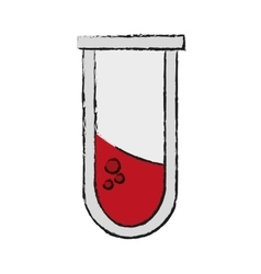 Isolated tube with blood design vector