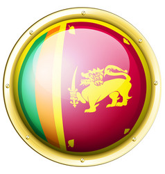 sri lanka flag on round icon vector image