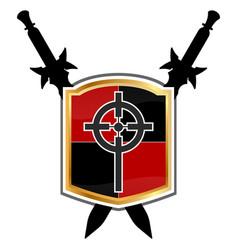 Templar shield icon vector