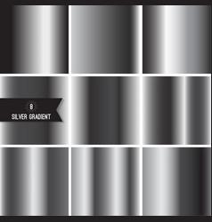 Set of silver foil texture vector