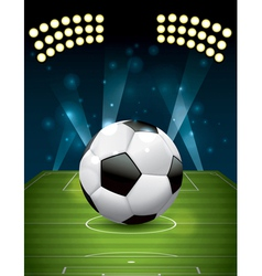 Soccer - football on a grass field vector