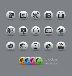 Communication Icons Pearly Series vector image