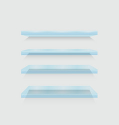 modern flass shelfs set on gray vector image