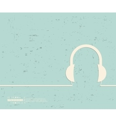 Creative headphone art vector