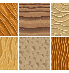 Set of sand seamless pattern vector