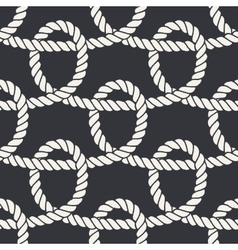 Marine rope loop seamless pattern vector