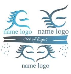 A set of logos for web design vector image