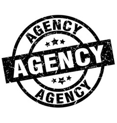 Agency round grunge black stamp vector