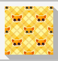 Animal seamless pattern collection with fox 4 vector