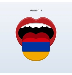 Armenia language Abstract human tongue vector image