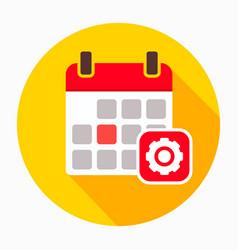 calendar configuration gear options settings icon vector image
