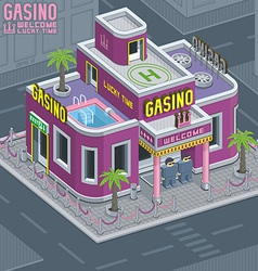 Casino building vector image