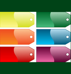 Coloured gift tags vector