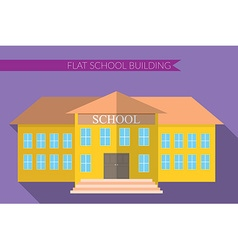 Flat design modern of school building icon set vector image vector image