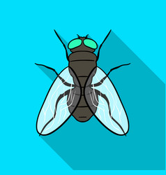 Fly icon in flat style isolated on white vector