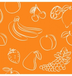 fruits pattern vector image