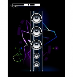 futuristic sound system vector image vector image