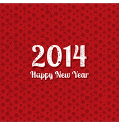 Grunge text New Year background on a snowflake vector image