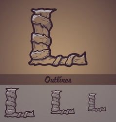Halloween decorative alphabet - L letter vector image