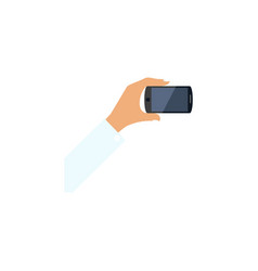 Isolated keep phone flat icon smartphone vector