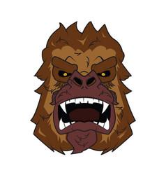 kong-head vector image vector image