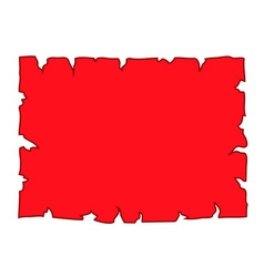 Parchment paper blank document red vector