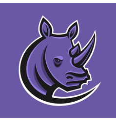 Rhino sport logo logotype template for mascot vector